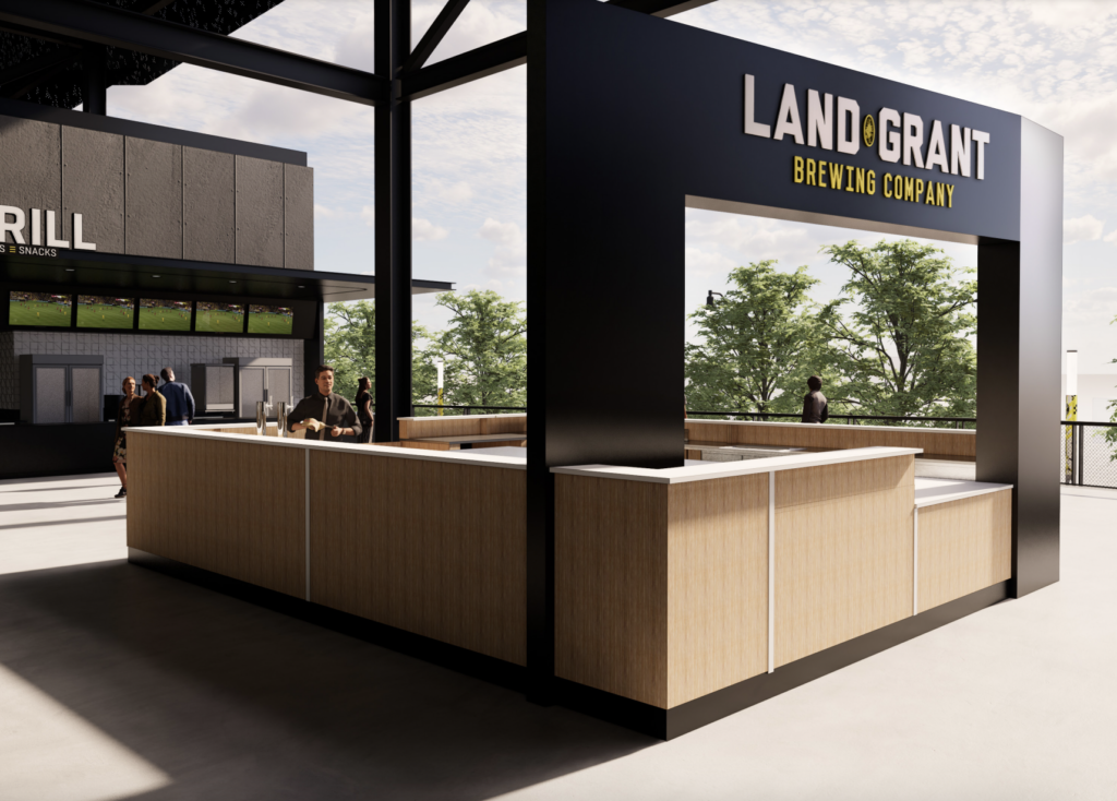 Rendering of Land-Grant Brewing Company's bar in New Crew Stadium